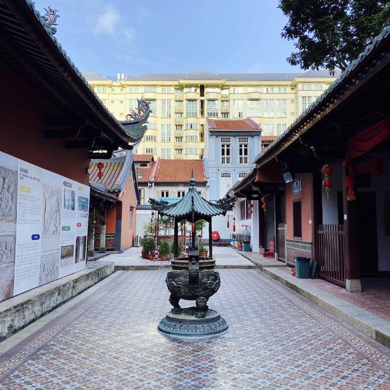 Im Inneren des Thian Hock Keng Tempel