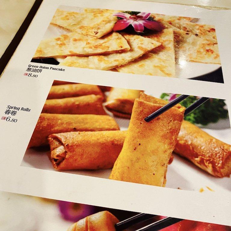 Essen im chinesischen Restaurant in der Smith Street - Detail vom Menü