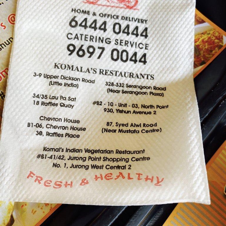 Komala's, your vegetarian Restaurant