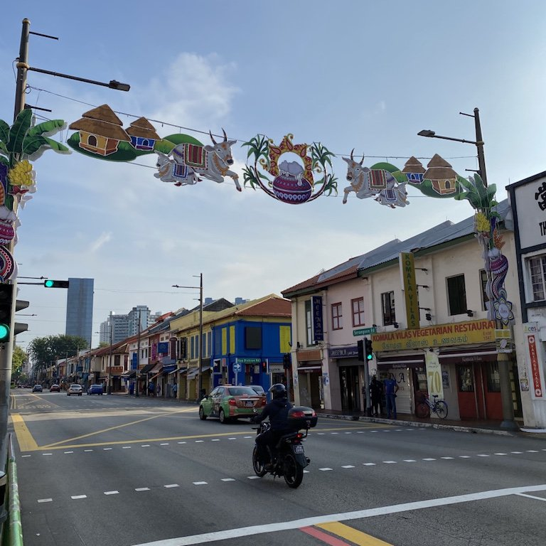 Strasse in Little India in Singapur