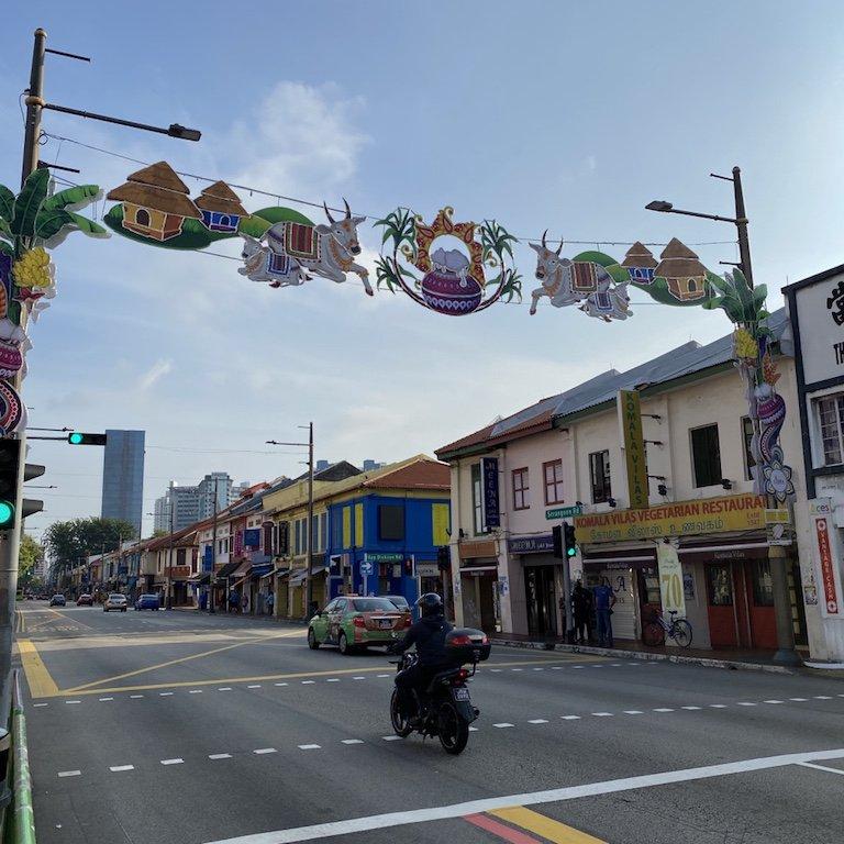 Strasse in Little India in Singapur