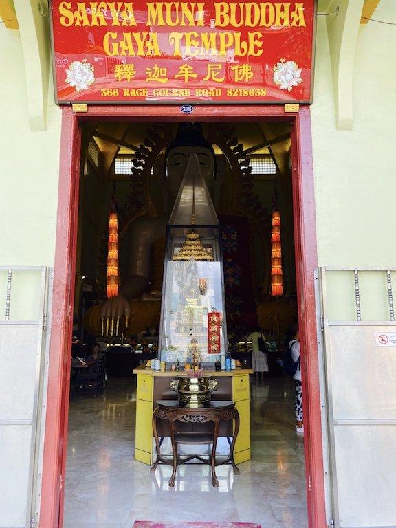 Eingang zum Temple of 1000 Lights - Sakya Muni Buddha Gaya Temple