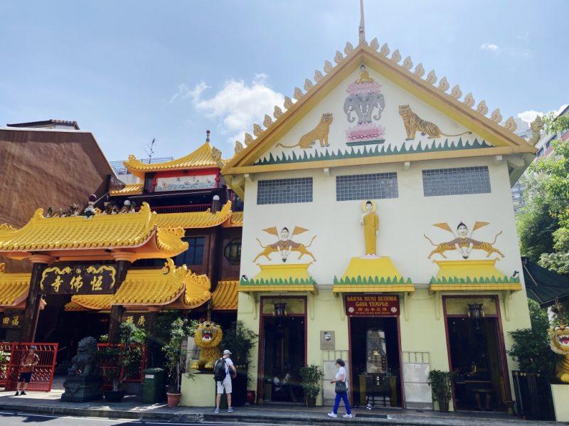 Fassade des Temple of 1000 Lights - Sakya Muni Buddha Gaya Temple