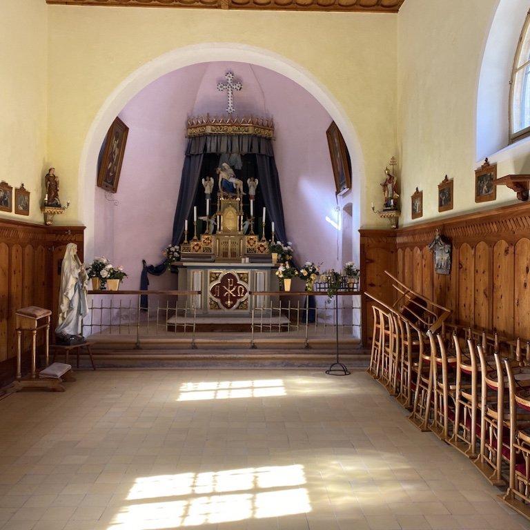 Pragser Wildsee - Innenansicht der Kirche