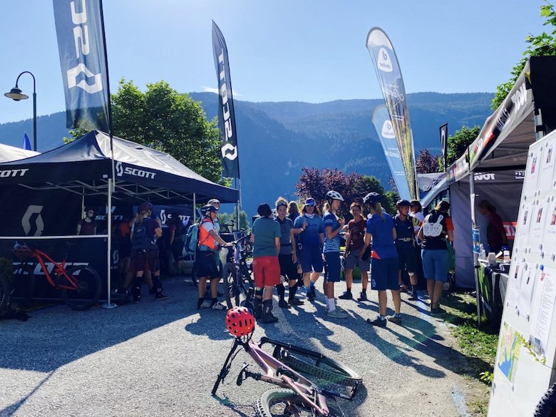 Im Bike Camp am Molveno See im Trentino