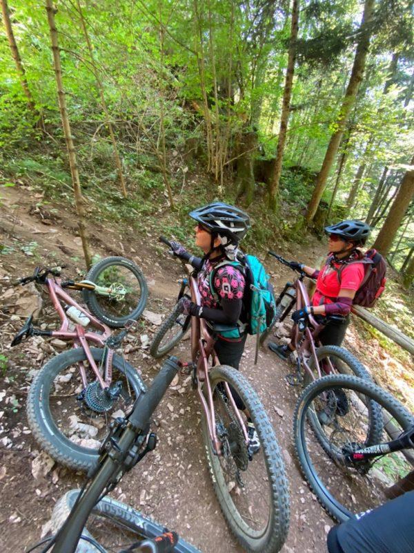 Bike Women Camp 2020 Teilnehmerinnen unterwegs
