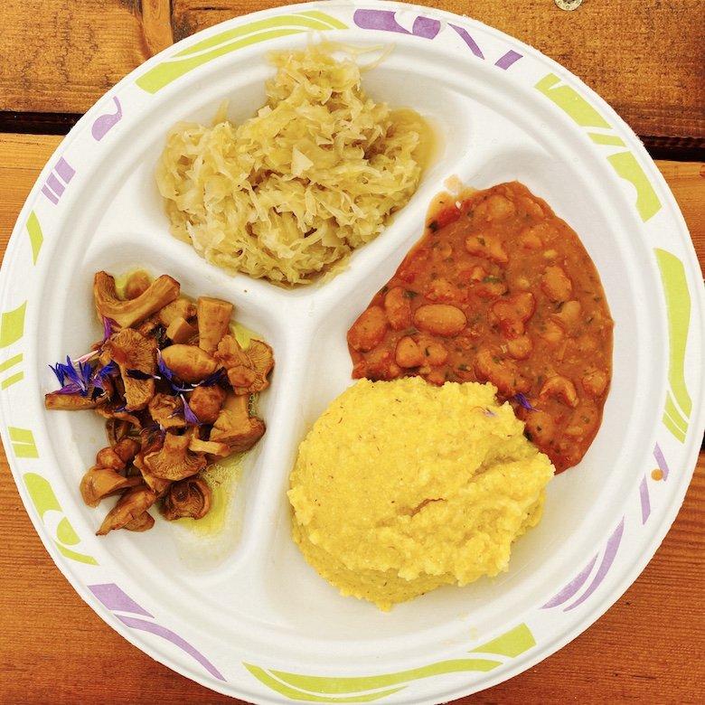 Essen auf der La Montanara Hütte