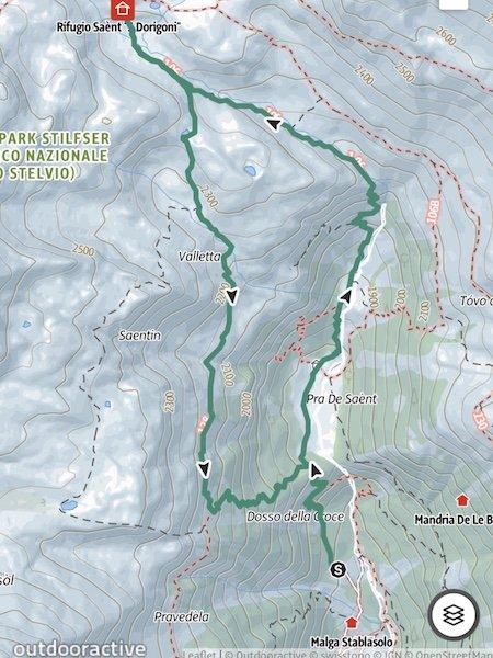 Rundwanderung zur Dorigoni Hütte im Stilfser Joch Nationalpark