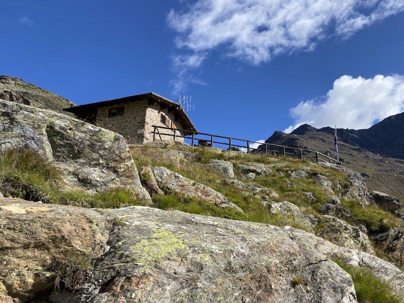 Dorigoni Hütte von unten