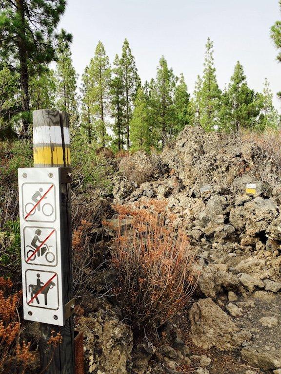 Wanderweg vulkanisch beim Chinyero