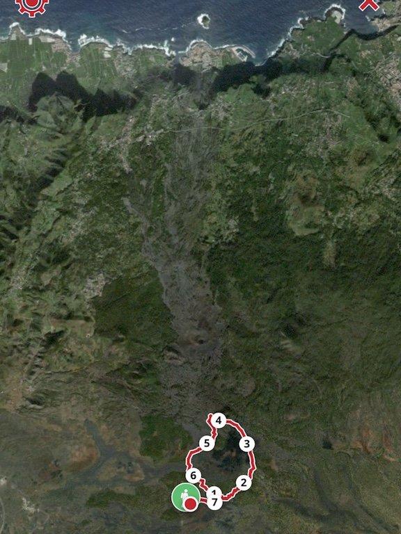 Karte mit Wanderroute um den Chinyero auf Teneriffa