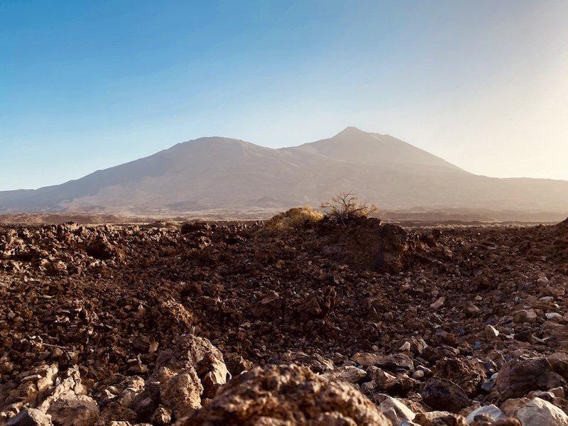 Nach Sonnenaufgang in der Canadas del Teide auf Teneriffa