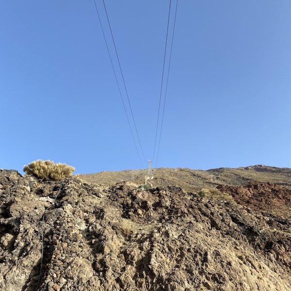 Blick aus der Talstation der Seilbahn vor dem Teide Vulkan