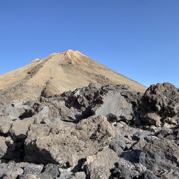 Blick vom Aussichtspunkt auf den Teide