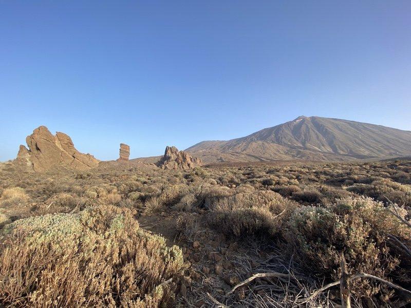 Blick auf Teide und die Roques de Garcia der Canadas del Teide