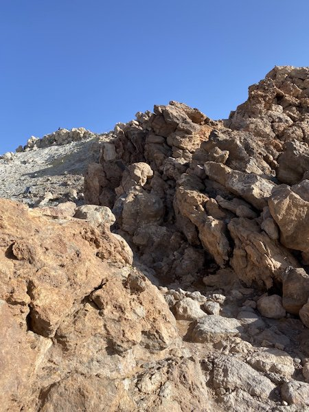 Wanderweg auf den Teide Vulkan