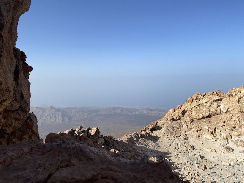 Blick vom Aussichtspunkt auf die Insel vom Teide auf Teneriffa