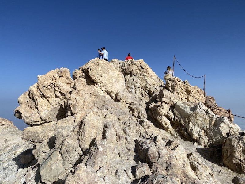 Der Gipfel der Teide Wanderung