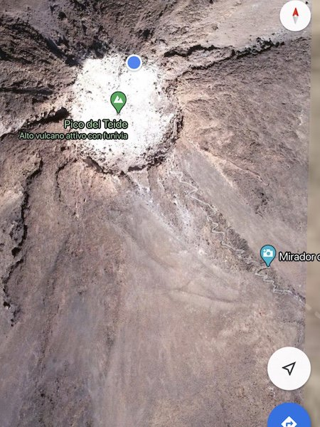 Markierung auf dem Pico del Teide