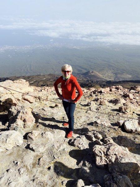 Isabella auf dem Teide mit Blick auf die Nordküste