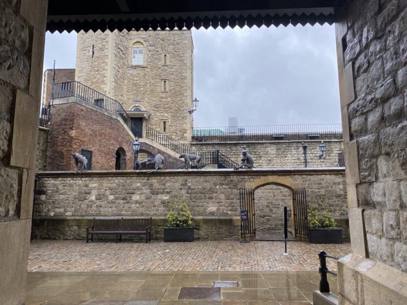 Im Tower of London: Affen und Zoo