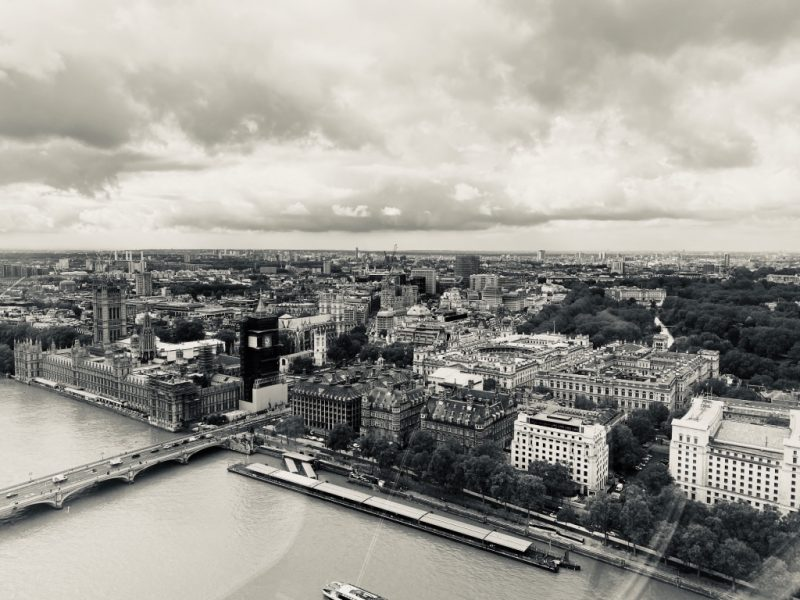 Blick von London Eye Riesenrad