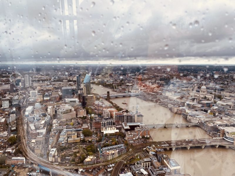 Sicht auf das London Eye vom The Shard