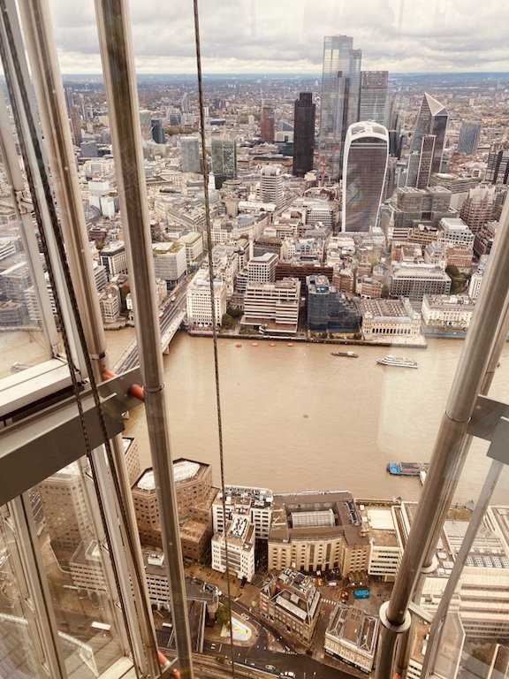 Panorama vom The Shard Hochhaus auf London