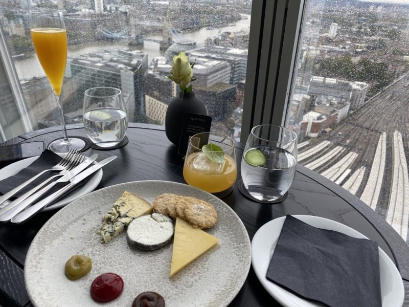 Aperitif im Aqua Restaurant im The Shard