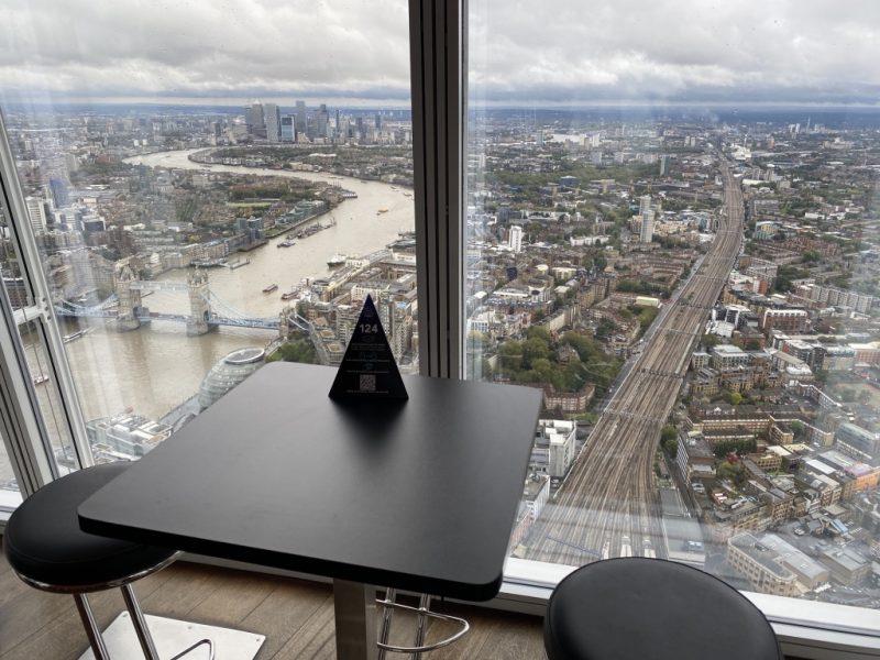 Blick vom The Shard Hochhaus auf London