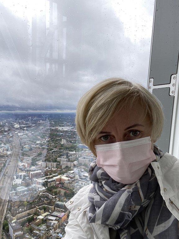 Selfie und Panorama vom The Shard Hochhaus auf London