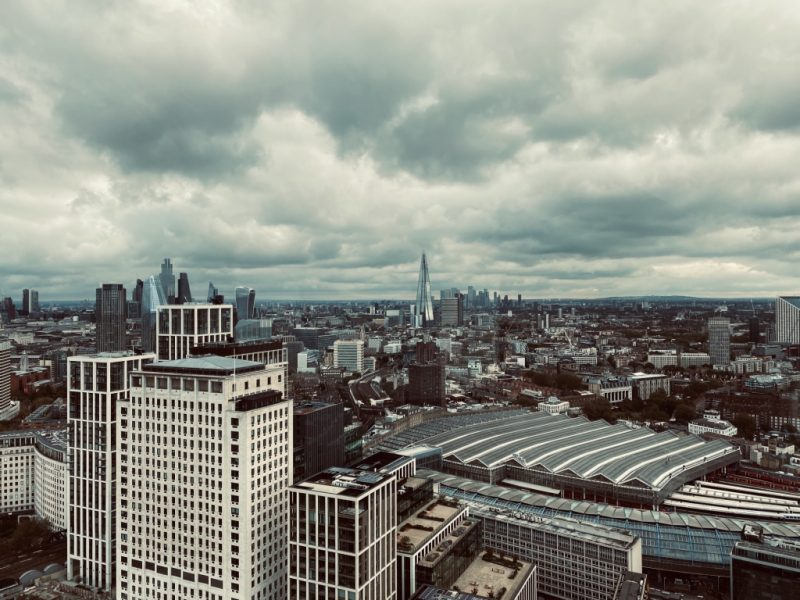 Blick auf The Shard vom London Eye