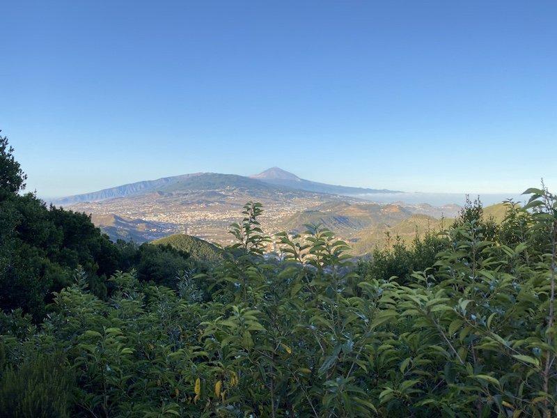 Aussicht auf Teneriffa und Teide am Mirardor Cruz Carmen