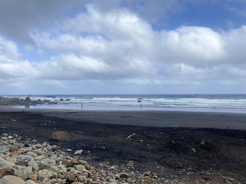 Sicht Almaciga Strand auf Teneriffa
