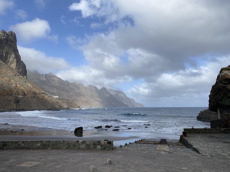 Ansicht Strand de las Bodegas auf Teneriffa