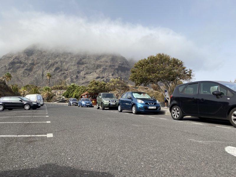 Parkplatz bei Playa Arenal Buenavista del Norte