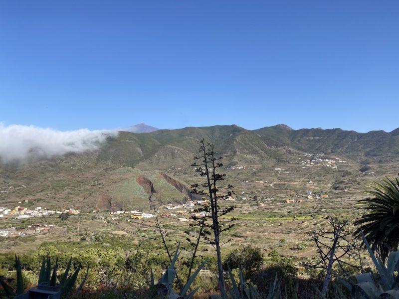 Aussicht auf die Torte bei El Palmar auf Teneriffa