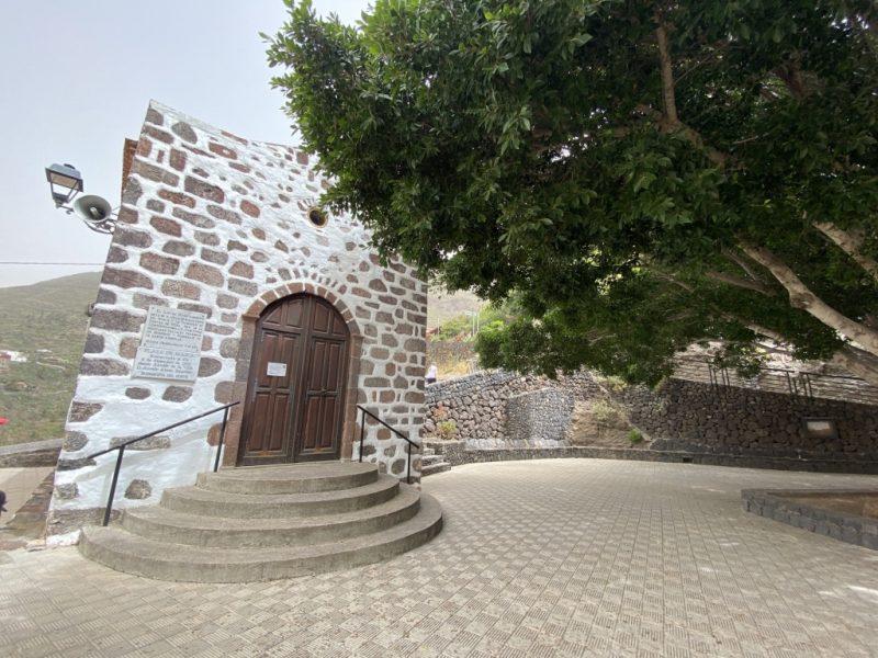 Dorfplatz im Ort Masca auf Teneriffa