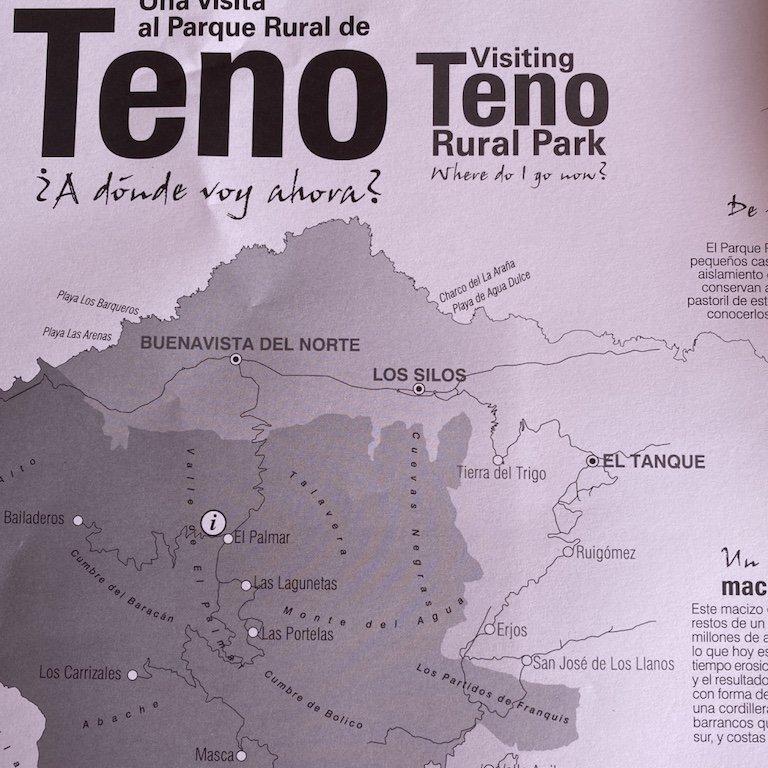 Karte des Teno Gebirges