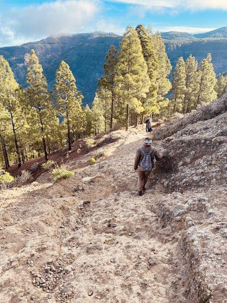 Abstieg des Wanderweg zum Roque Nublo auf Gran Canaria