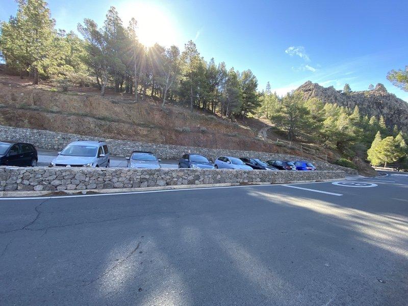 Parkplatz für die Wanderung zum Roque Nublo