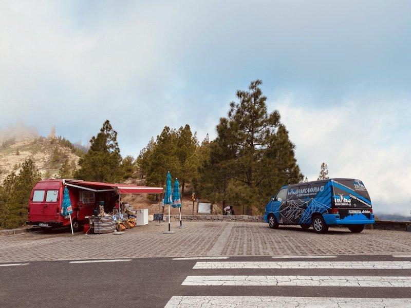 Parkplatz und Start für die Wanderung zum Roque Nublo