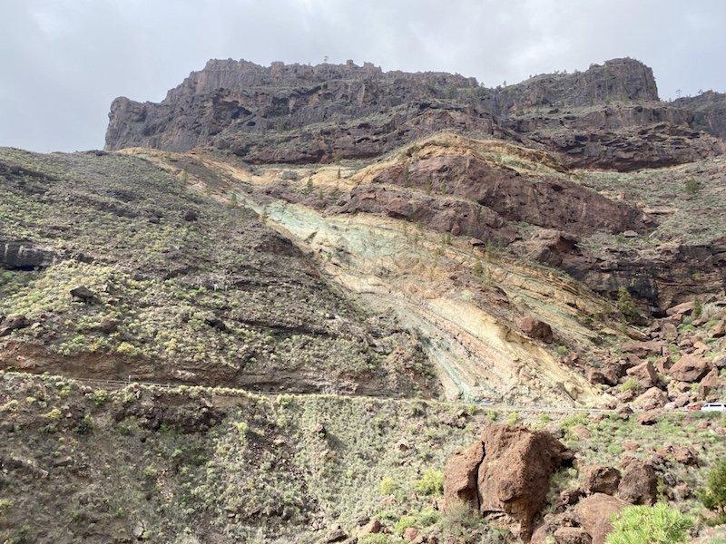 Berglandschaft und Los Azulejos im Westen der Insel Gran Canaria