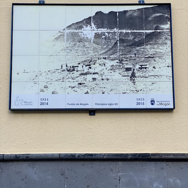 Schild im Ort Mogan auf Gran Canaria