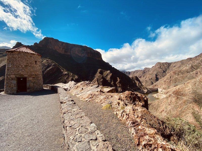 Sicht am Mirardor de Molino im Westen