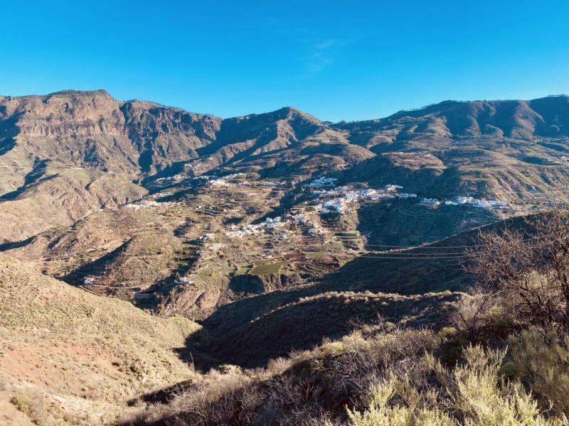Aussicht auf Tejeda auf Gran Canaria