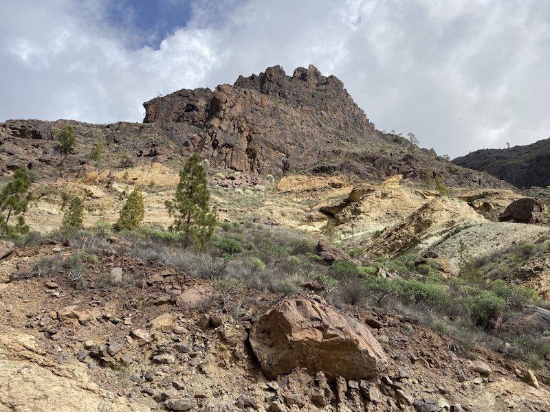 Berglandschaft Los Azulejos im Westen der Insel Gran Canaria