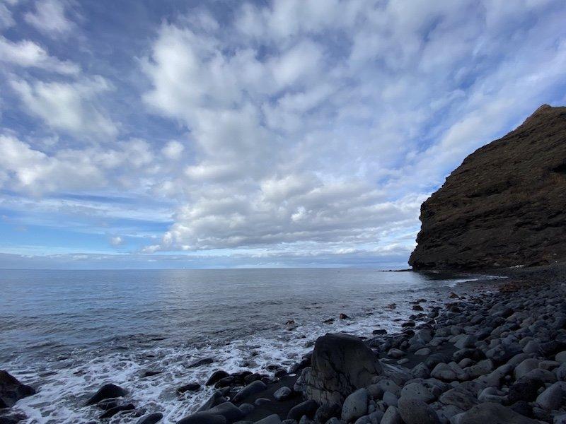 Am Strand Playa de Asno auf Gran Canaria
