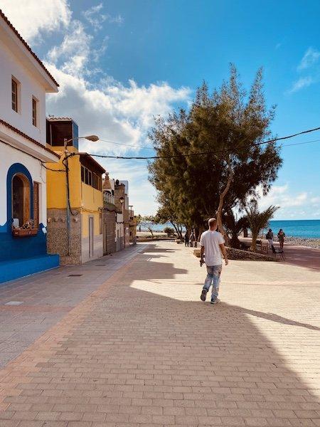 Strandpromenade bei Puerto de la Aldea auf Gran Canaria