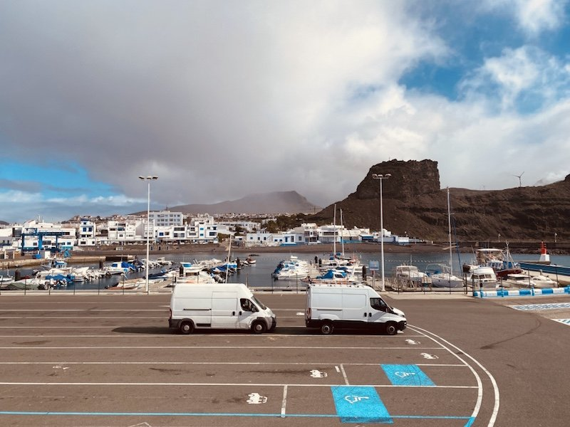 Hafenort Puerto de las Nieves im Westen von Gran Canaria